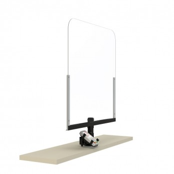Plexi-Glass with POS Cashier protection shield