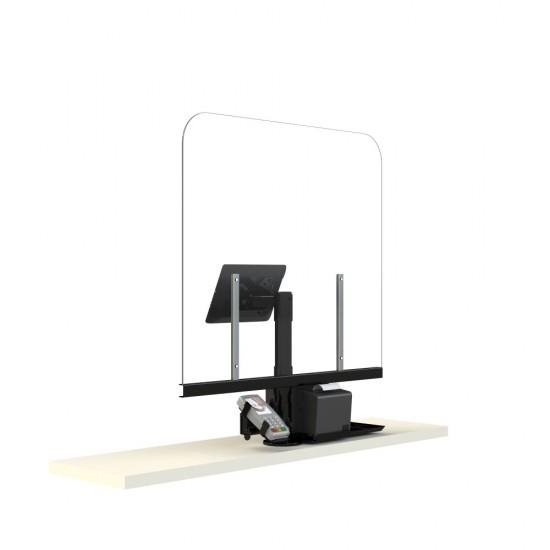 Plexi-Glass with POS, cash register and Printer