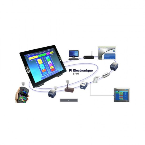 Kitchen Touch Monitor SPIN CHEF 15'' Pi