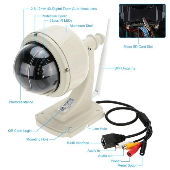 IP Security Camera Waterproof Wi-Fi