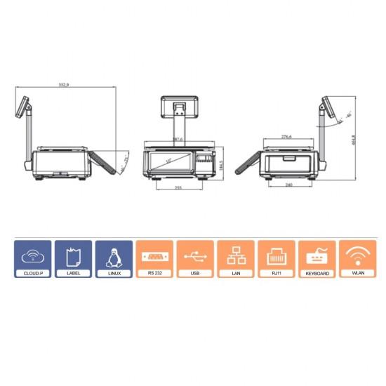 PEA-10 Label Scale with printer